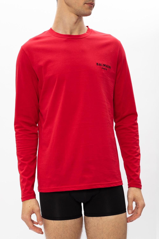 Balmain T-shirt z długimi rękawami