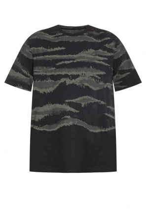 'brushed camo' printed t-shirt od AllSaints