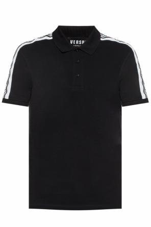 Polo shirt with logo stripes od Versace Versus