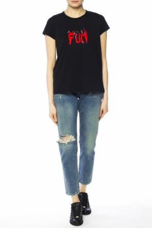 Distressed t-shirt od Givenchy