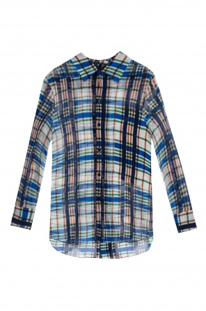 See-through checked shirt od Marni