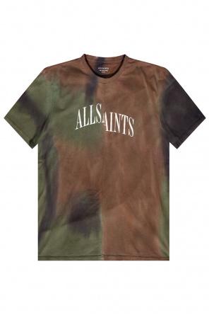 'camo' tie-dyed t-shirt od AllSaints