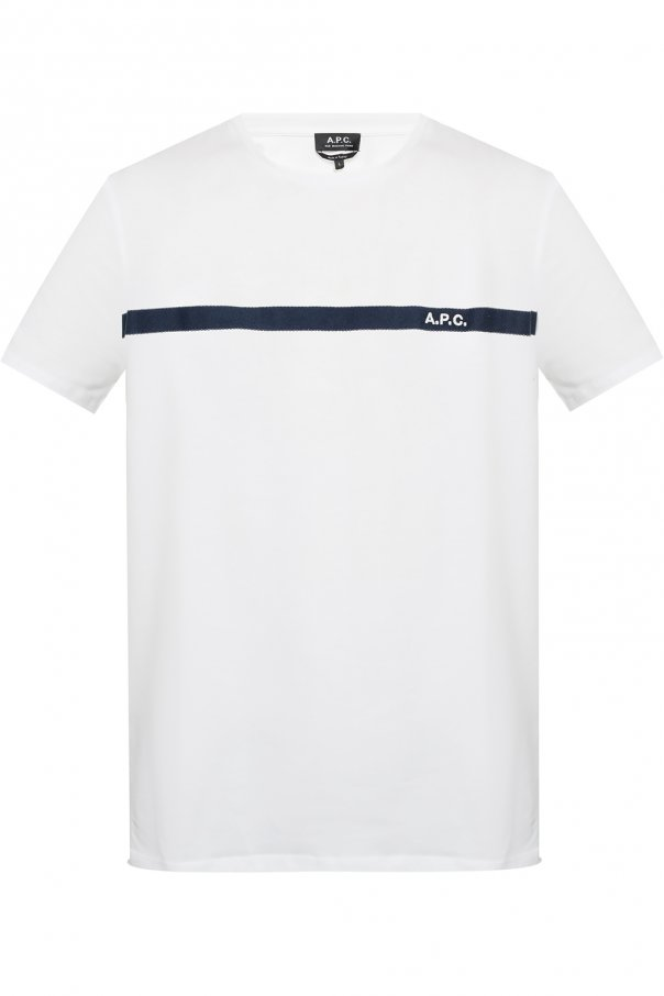 A.P.C. T-shirt with logo stripe