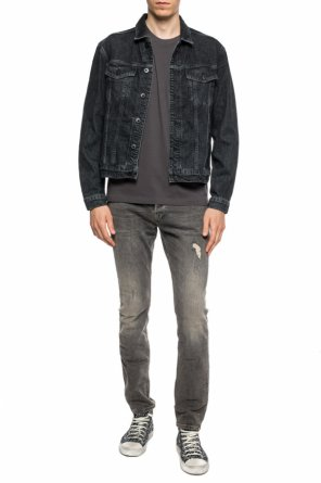 555a1458a99 'cooper' logo-embroidered t-shirt od AllSaints ' ...