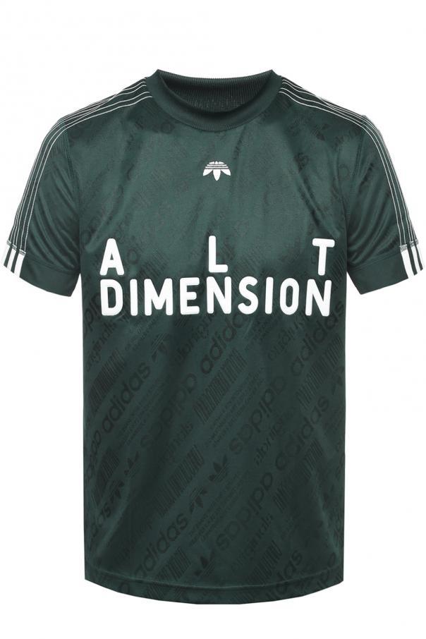 T Shirt Z Wyszytym Logo Adidas By Alexander Wang Sklep