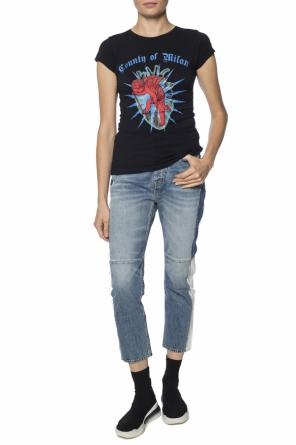 T-shirt with a printed pattern od Marcelo Burlon