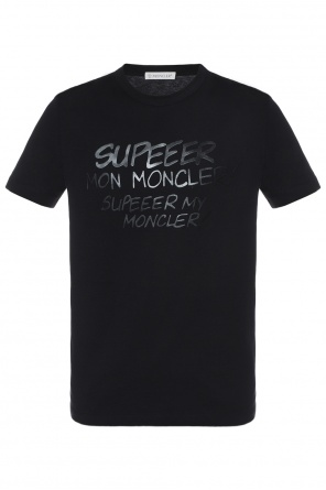 T-shirt with lettering od Moncler