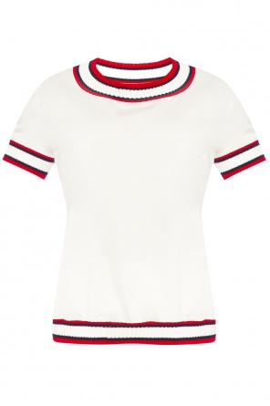 T-shirt with elasticated cuffs od Moncler