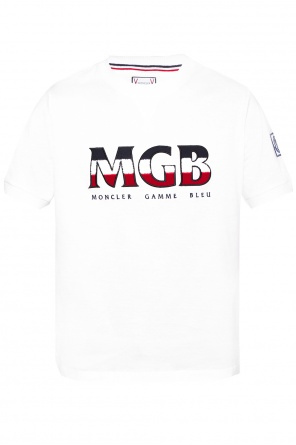 T-shirt with logo applique od Moncler