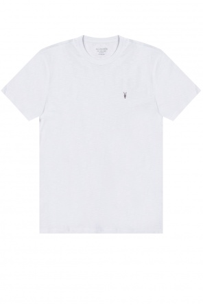 'dexter' logo-embroidered t-shirt od AllSaints