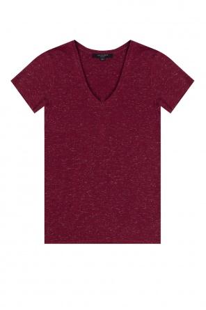 T-shirt z dekoltem w serek 'emelyn' od AllSaints
