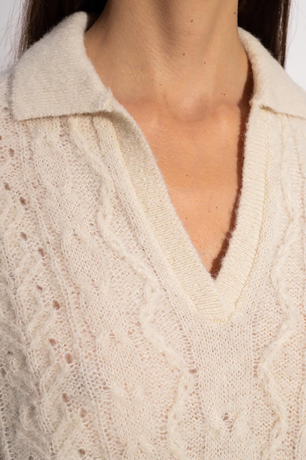 Samsøe Samsøe Wool sweater with collar