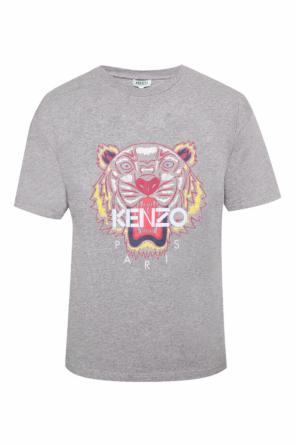 T-shirt with a tiger head motif od Kenzo