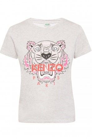 Tiger head motif t-shirt with logo od Kenzo