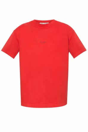 T-shirt with a printed logo od Acne