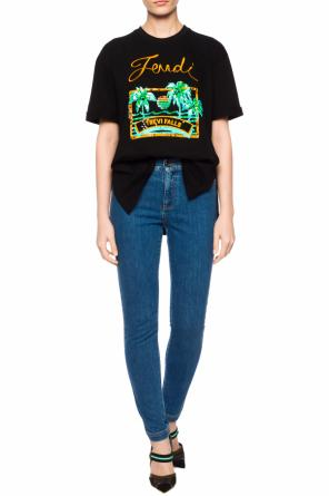 Printed t-shirt od Fendi