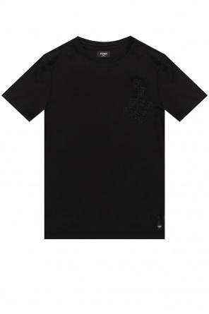 Logo t-shirt od Fendi
