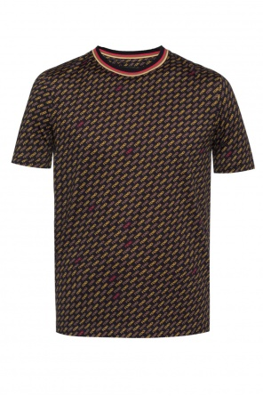 T-shirt with a logo pattern od Fendi