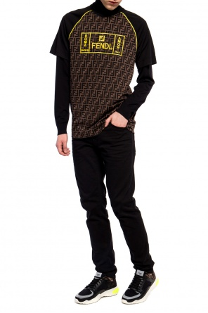 Embroidered t-shirt od Fendi