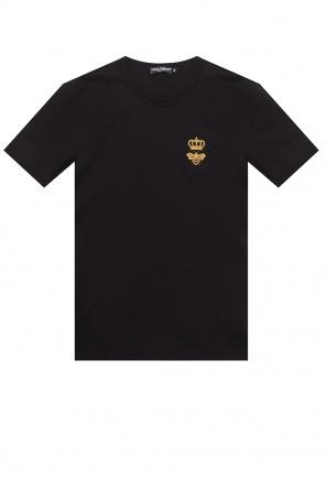 T-shirt z logo od Dolce & Gabbana