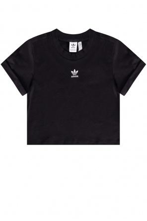 Cropped t-shirt with logo od ADIDAS Originals