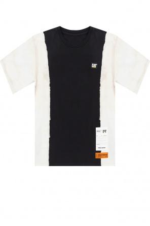 T-shirt z naszywką od Heron Preston