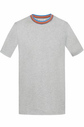 T-shirt with embroidered logo od Marni