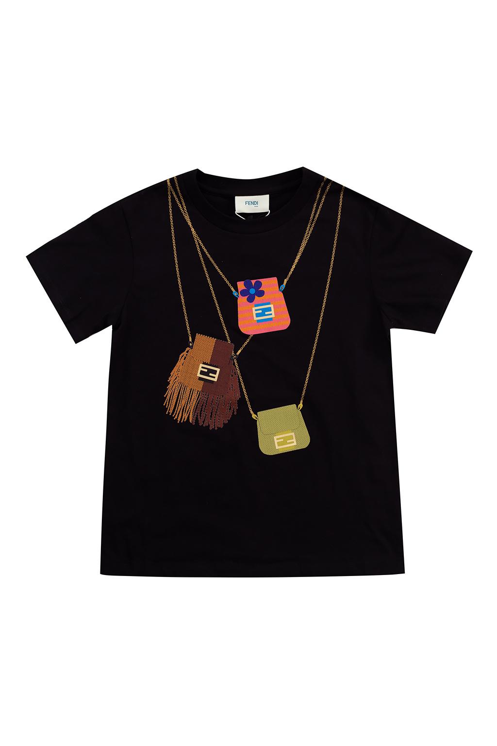 Fendi Kids T-shirt z nadrukiem
