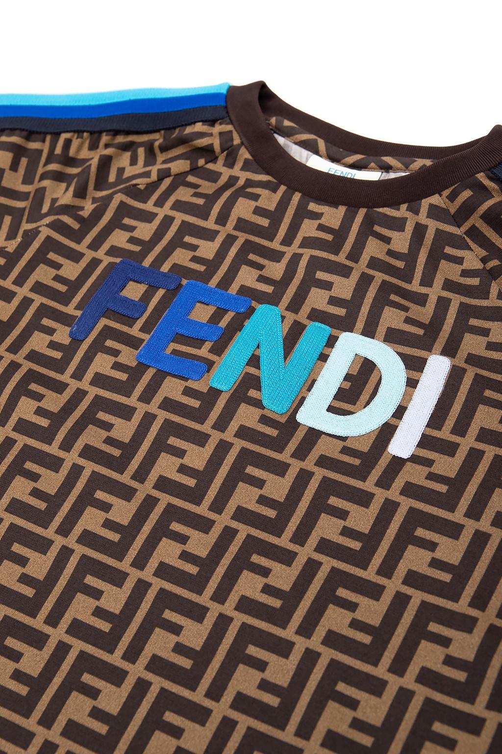 Fendi Kids Patterned T-shirt