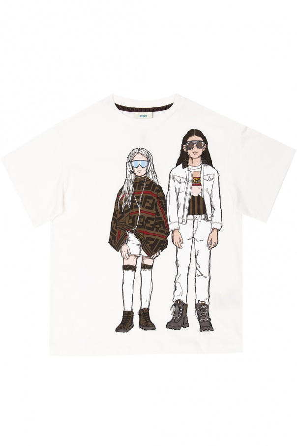 Fendi Kids Printed T-shirt
