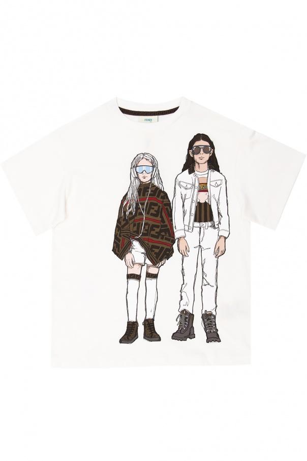 Fendi Kids T-shirt z nadrukowanym wzorem