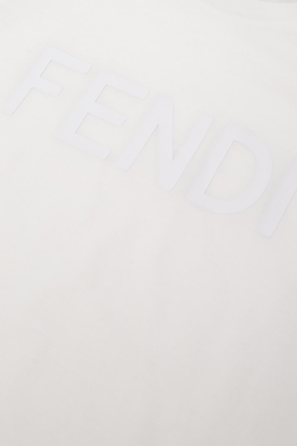 Fendi Kids T-shirt z logo