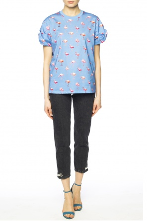 T-shirt with flamingos od Victoria Victoria Beckham