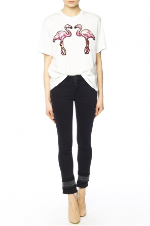 Patched t-shirt od Victoria Victoria Beckham