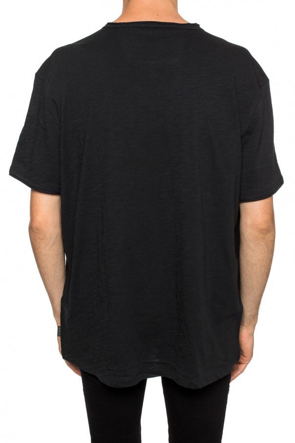 John Varvatos T-shirt z dekoltem w serek C4Iwekxe