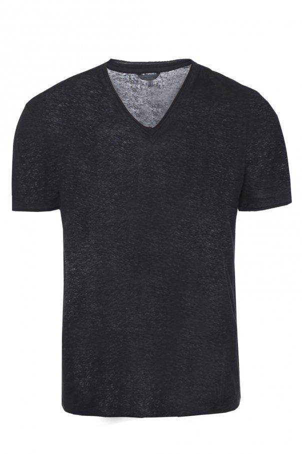 John Varvatos T-shirt z dekoltem w serek