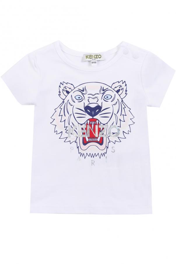 f799a1477e Tiger head-printed T-shirt Kenzo Kids - Vitkac shop online