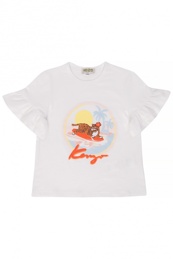 8fc3fdfc T-shirt with a print Kenzo Kids - Vitkac shop online