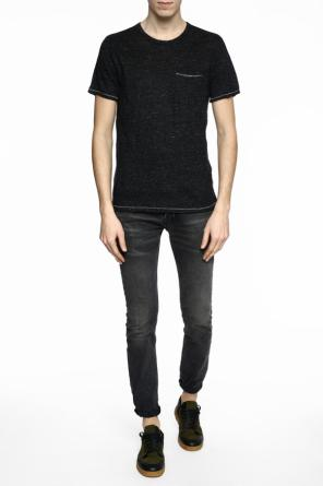 Linen t-shirt with stitching details od Rag & Bone