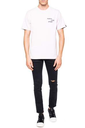 Embroidered lettering t-shirt od Rag & Bone