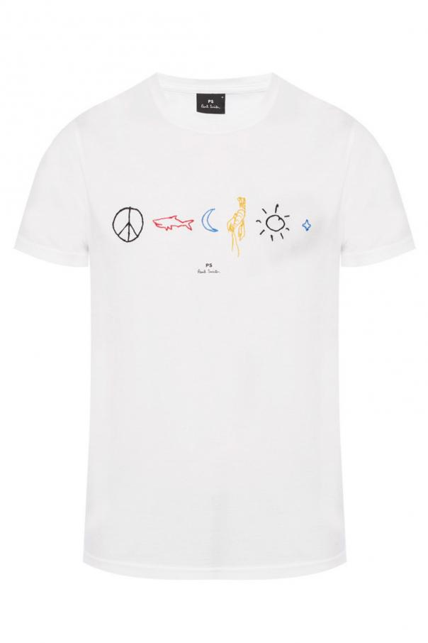966251a5c T-shirt with embroidered pattern Paul Smith - Vitkac shop online