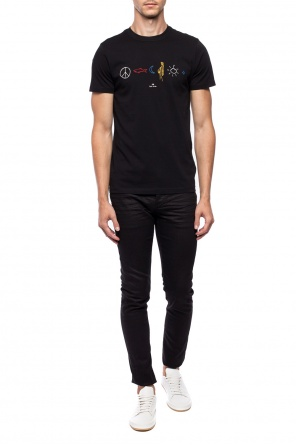 T-shirt with embroidered pattern od Paul Smith