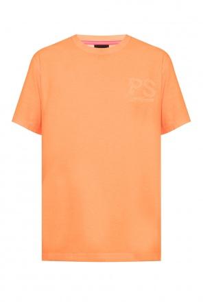 T-shirt z logo od PS Paul Smith
