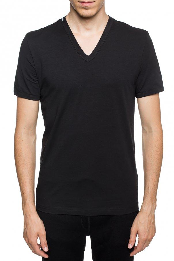 Dolce & Gabbana T-shirt z dekoltem w serek y8Io80Td