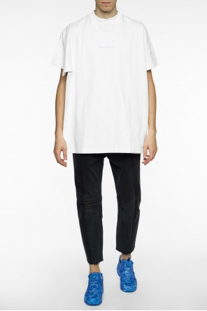 Double t-shirt with inscriptions od Vetements