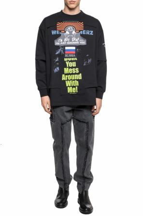 Oversize t-shirt with long sleeves od Vetements
