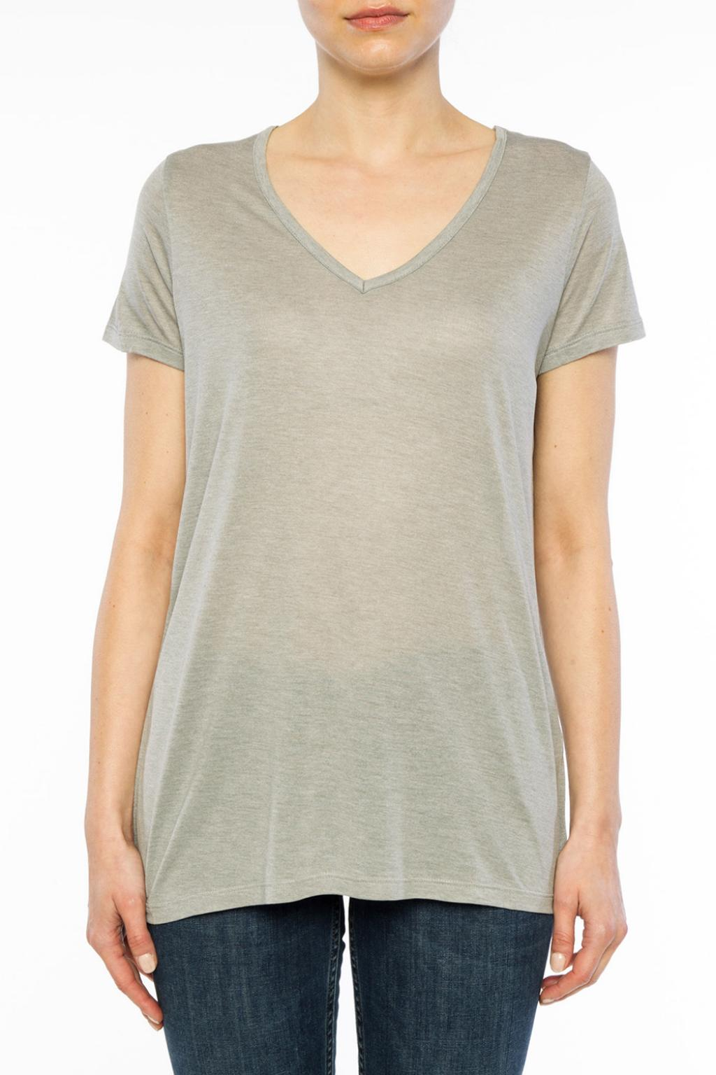 AllSaints T-shirt z dekoltem w serek 'Malin'