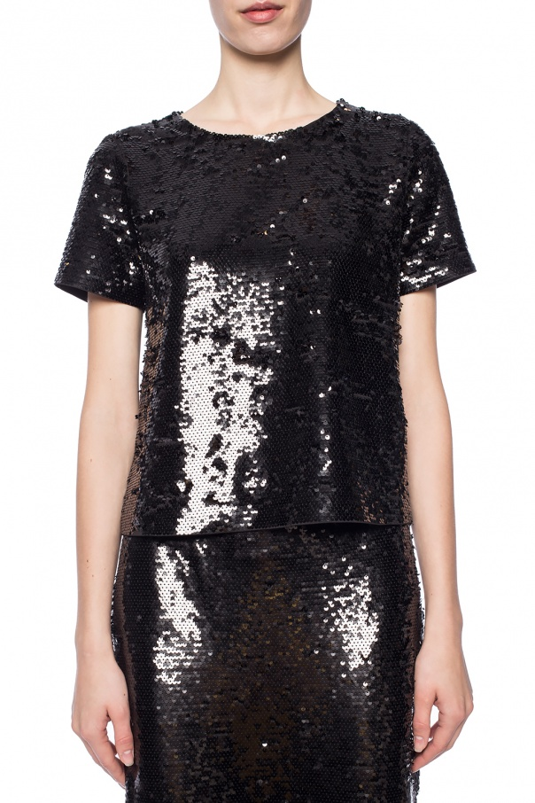 Sequin round neck top od Michael Kors