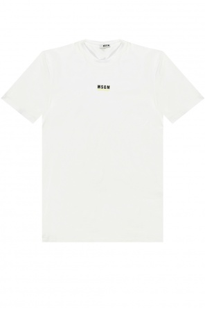 T-shirt with logo od MSGM