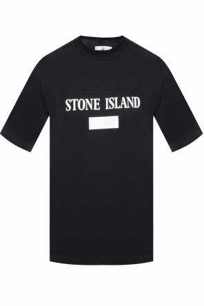 T-shirt with a printed logo od Stone Island